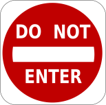 U DO not enter